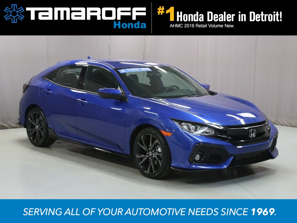 Certified Used 2018 Honda Civic Sport 4d Hatchback Southfield T3278